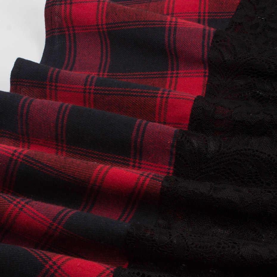 Rosetic Goth кружевное платье женское клетчатое платье с открытой спиной в стиле пэчворк винтажное женское летнее элегантное платье для вечеринки пикантная одежда на спине