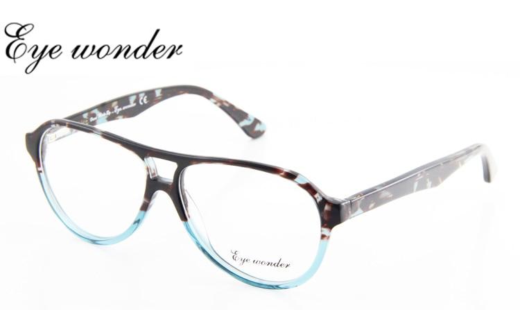 Homens maravilha Eye acetato de moda duplo ponte óculos quadros óculos de  grau mulheres óculos Occhiali Brill olhos a48b79563b