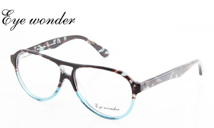 Ojo maravilla hombres moda acetato de doble puente diseñador Gafas marcos  oculos de Grau mujeres occhiali Brill Ojos d20fd4ce43