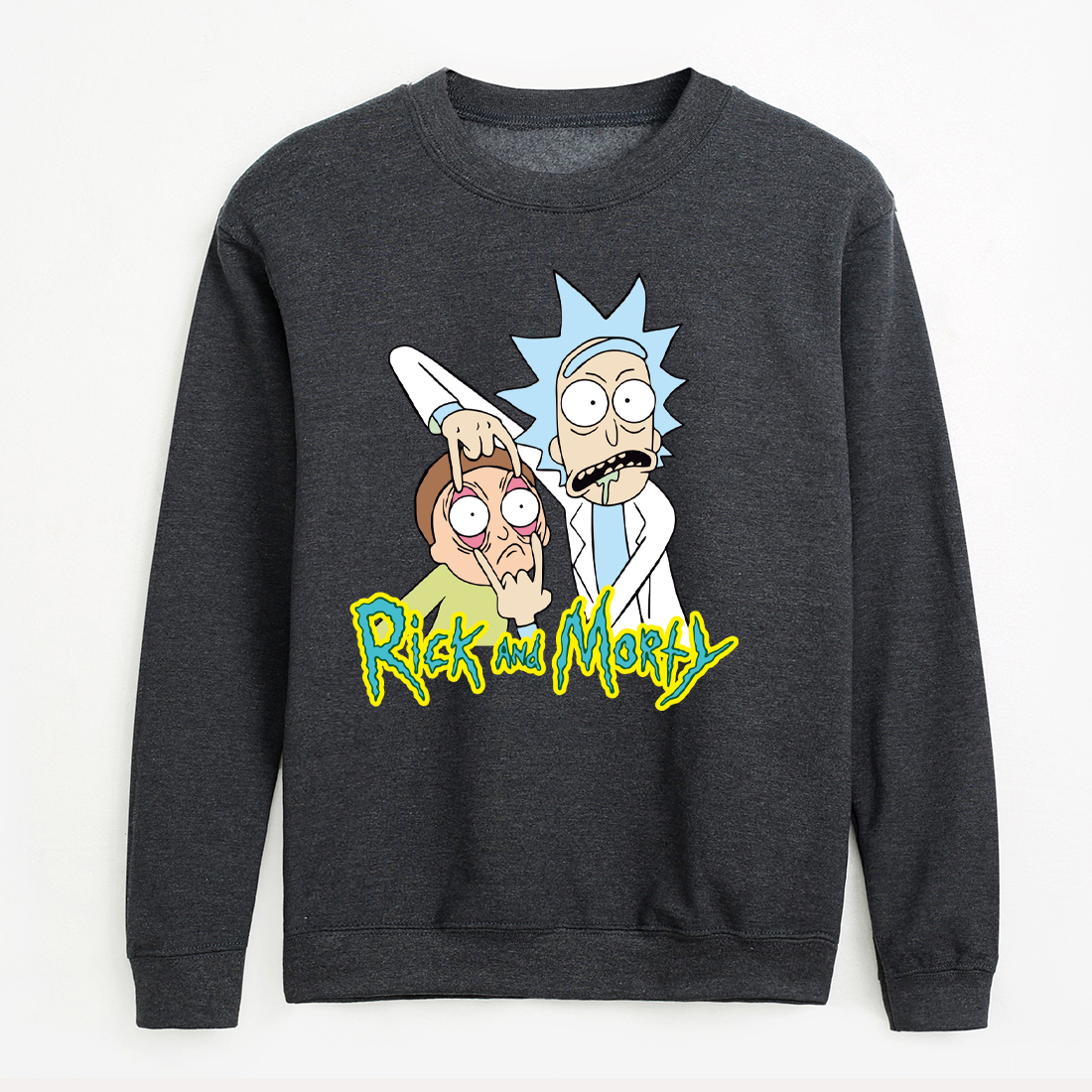 Streetwear Hip-hop Hoodies For Men White Gray Long Sleeve Sweatshirts Rick And Morty Fashion Brand Tracksuits 2020 New Pullovers