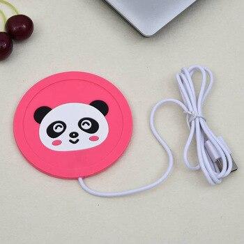Cute Cartoon 5V USB Warmer Silicone Heat Heater for Milk Tea Coffee Mug Hot Drinks Beverage Cup Mat Kitchen Tools Heater newest 4