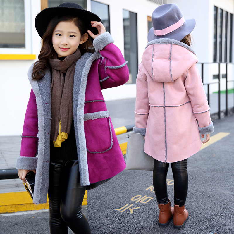 Children s clothing female child outerwear 2017 autumn winter new  thickening jacket coat 5 6 7 8 9 10 11 12 13 years old girls e871bc4a66