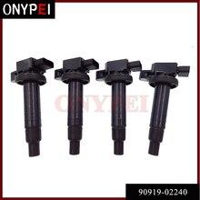 Набор из 4 катушек зажигания 90919-02240 90080-19021 для Toyota Echo Prius Yaris Scion xA xB 1.5L 9091902240 9008019021