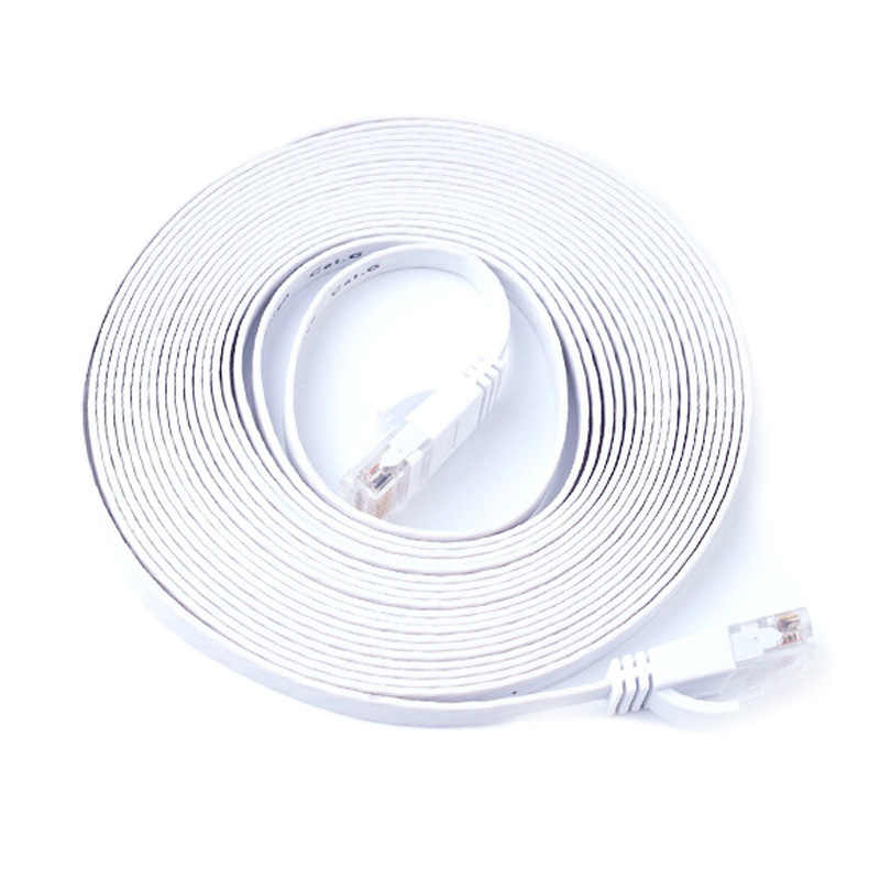 Flat CAT6 RJ45 Ethernet Network Cable Patch UTP Lan Cable Connector for Computer Router 0.5/1/1.5/2/3/5/10/15/20/25/30M