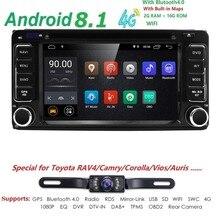 2 Дин Радио Android 8,1 мультимедийный автомобильный DVD плеер для Toyota Land Cruiser 100 200 prado 120 150 RAV4 COROLLACamry yaris Hilux