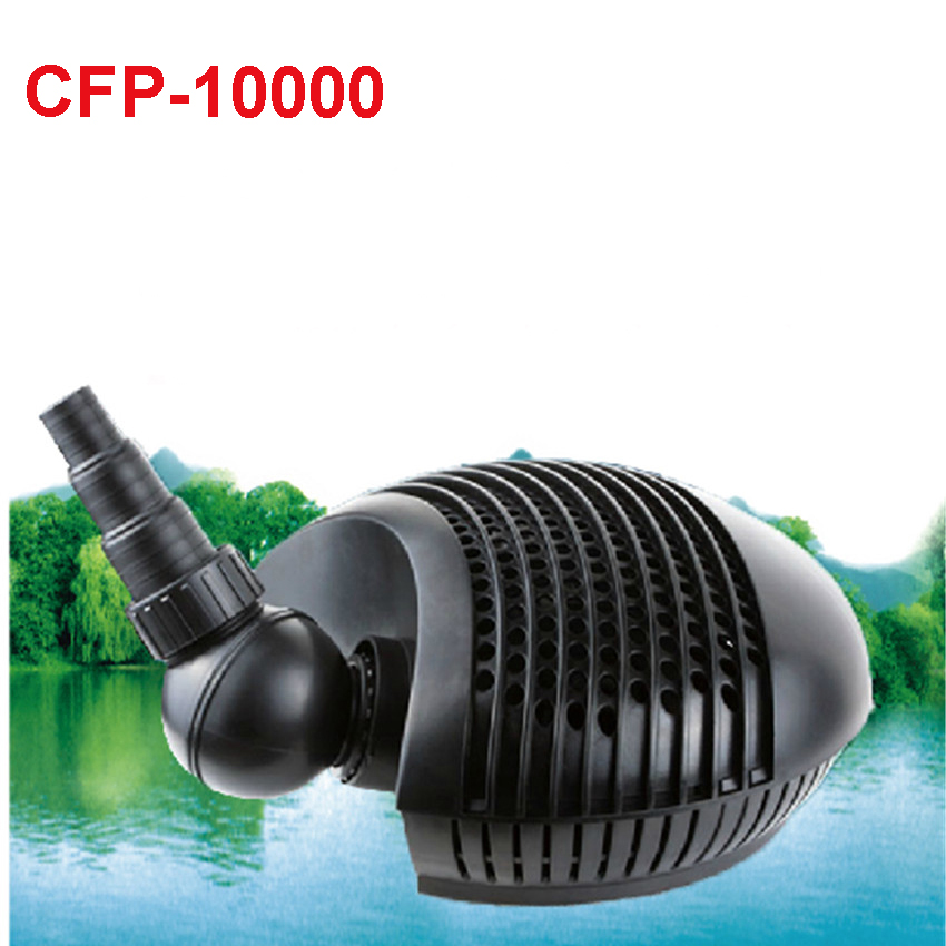 CFP-10000 Garden Pond Filter Pond Submersible Pump 10000L/H 155W Low pressure water pump 32MM 36MM 25MM Water outlet diameter free shipping clb series submersible water pump for pond