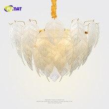 Фумат пост современные стеклянные листья K9 хрустальное стекло нержавеющая сталь светодиодный подвесной светильник ing Роскошные креативные европейские люстры лампы светильник