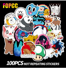 100pcs pack Cartoon Cute Children Stickers Naked Bear Lion animal Skateboard Motorcycle Travel Case Laptop PVC sticker