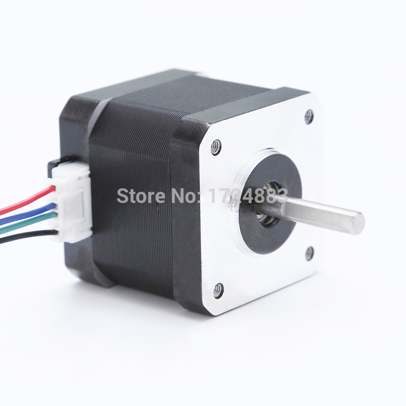 High torque 42 Stepper Motor 2 PHASE 4-lead Nema17 motor 42BYGH24 40MM 1.7A 0.46N.M LOW NOISE (17HS2401) motor for CNC XYZ