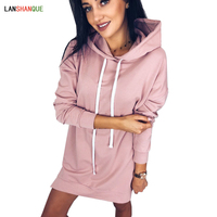Fashion Long Sleeve Hoodies Women's Clothing 2018 Black Pink Gray Loose 3XL Autumn Pullover Casual Hooded Winter Sweatshirts women Sweatshirts & Women Hoodies