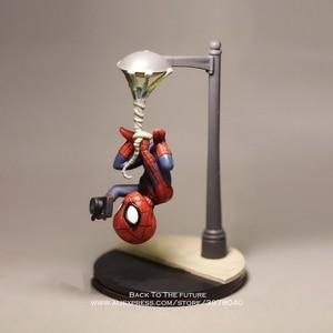 Image 4 - Disney Marvel Avengers 14cm Spider Man take photo Action Figure Model Anime Mini Doll Decoration Collection Figurine Toys model