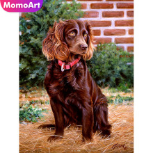 MomoArt Diamond Painting Dog Mosaic Full Square Rhinestone 5d Emroidery Animal Home Decoration