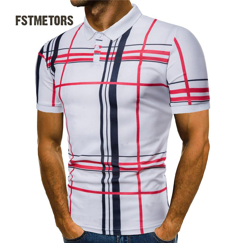 2018 FSTMETORS summer fashionable man   polo   shirts printed personality, cultivate one's morality short sleeve   polo   shirts men