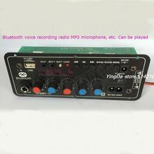 12 В батареи стерео аудио усилитель мощности совет square dance 220 В караоке-бары окно bluetooth материнская плата поддержка FM
