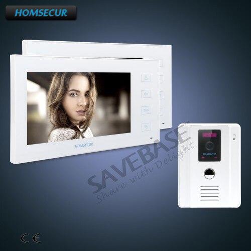 HOMSECUR 7 проводной видео и аудио дома, домофон + Dual-Путь Интерком для дома безопасности ...