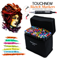 TOUCHNEW 30/40/60/80 Colors Art Markers Alcohol Based Drawing Set Manga Dual Headed