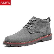 7abbc5d089d ASIFN hombres zapatos de negocios zapatos de botas de hombre de gamuza zapatos  de moda Otoño Invierno Oxford para hombre Casual .