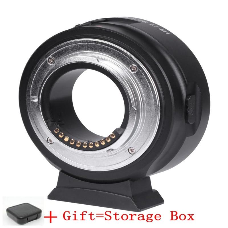 ViltroxEF-M1 Auto Focus AF Adapter with chip forCanon EOS EF Lens to Micro 4/3 mount MFT OM-D G6 GH4 AF adapter LensMount Adapte commlite cm ef mft electronic aperture control lens adapter for ef ef s lens m4 3 camera