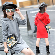 2016 Dongkuan girls plus cashmere sweater children's clothing girls baby child fleece sweater coat children's clothing