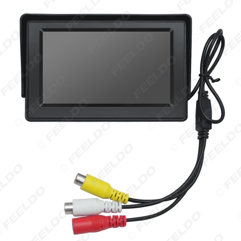 """FEELDO 1 комплект 4,3 дюймовый цифровой дисплей лобовое стекло lcd 4,"""" Автомобильный монитор для заднего хода резервная камера DVD видеомагнитофон# AM4590"""