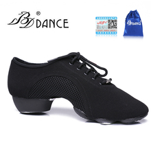Modern Men's Latin Dance Shoes Woman Air Mesh Cloth Adult Jazz Shoes Dancing Sneakers Teacher Fitness Breathable Coupons BD JW-1
