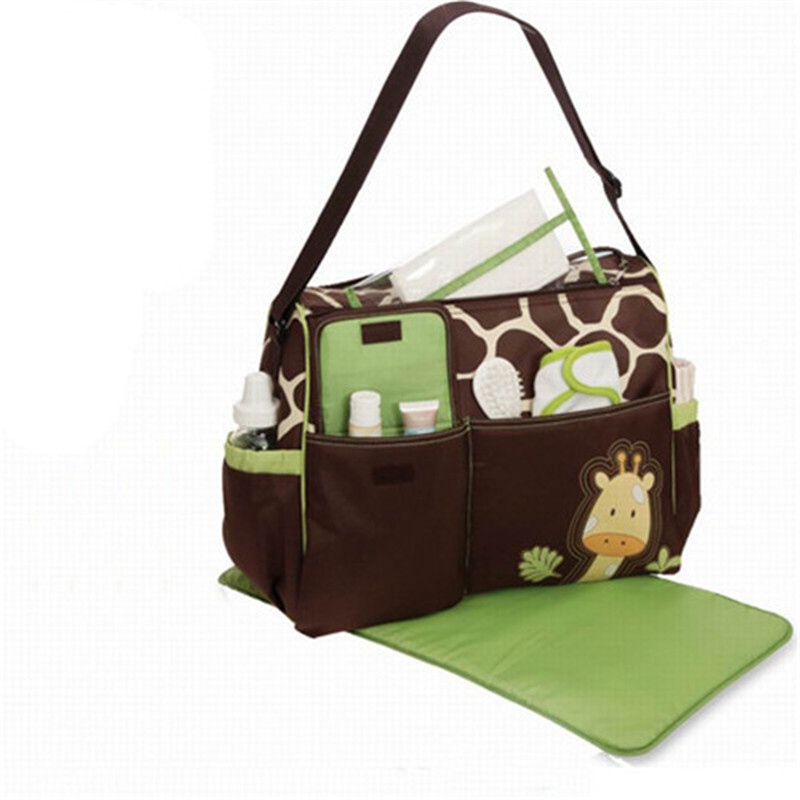 Mummy Bag Diagonal Shoulder Large Capacity Baby Diaper Nappy Changing Bag  Giraffe Style Baby Travel Nappy Bag Diaper Backpack