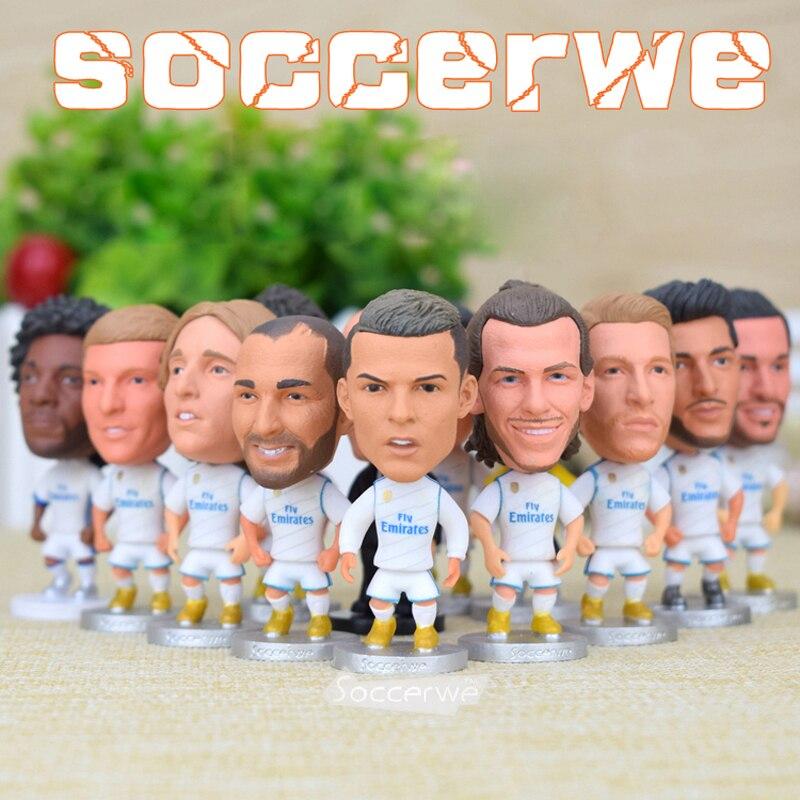 Real Madrid [12 pièces + présentoir] Figurine de joueur de football 2.5 \