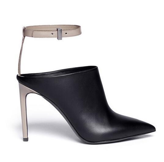 Top Design Summer Luxury Women Sandals Concise Ankle Strap Belt Buckle Slingback Fashion High Heels Summer Sandals PU Leather все цены