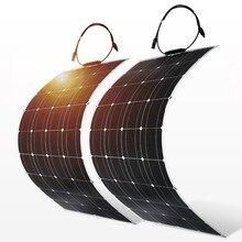 Dokio 4 шт. 8 шт. солнечная панель 100 Вт монокристаллическая солнечная ячейка Гибкая для автомобиля/яхты/парохода 12 В 24 Вольт 100 Вт солнечная батарея