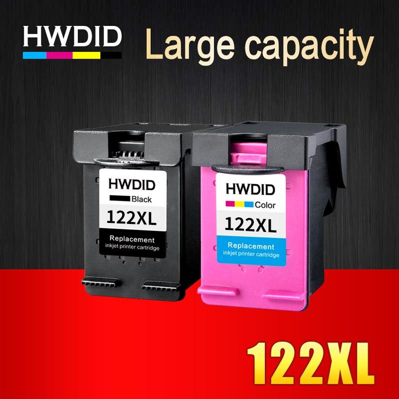 HWDID 122 XL Cartouche D'encre Compatible pour HP 122 pour Deskjet 1000 1050 2000 2050 2050 s 3000 3050A 3052A 3054 1010 1510 2540
