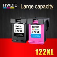 HWDID 122XL пополнен картридж Замена для hp 122 для Deskjet 1000 1050 2000 2050 s 3000 3050A 3052A 3054 1010 1510 2540