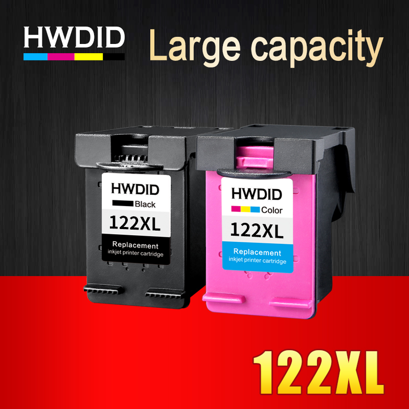 HWDID 122XL rellenar tinta cartucho de repuesto para HP 122 Deskjet serie 1000, 1050, 2000, 2050 s 3000 3050A 3052A 3054, 1010, 1510, 2540