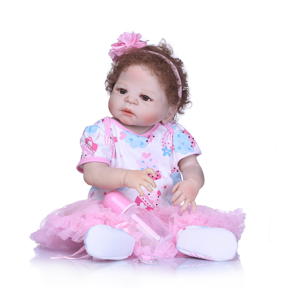 NPK 55cm Full Silicone Reborn Girl Baby Doll Toys Realistic Newborn Princess Babies Doll Lovely Birthday Gift Bebes reborn  NPK 55cm Full Silicone Reborn Girl Baby Doll Toys Realistic Newborn Princess Babies Doll Lovely Birthday Gift Bebes reborn