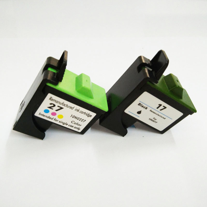 Vilaxh 17 27 cartucho de tinta para lexmark 17 27 para z605 z615 x1100 x1150 x1270 i3 z13 z23 z34 z515 z517 z600 z603 x2250 impressora