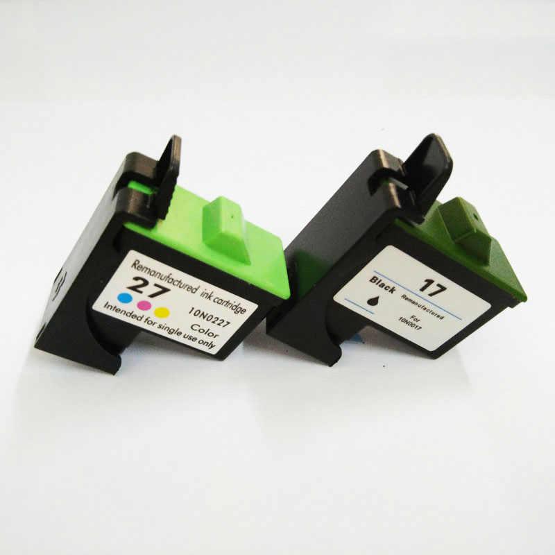 Vilaxh 17 27 Tinte Patrone Für Lexmark 17 27 für Z605 Z615 X1100 X1150 X1270 i3 Z13 Z23 Z34 Z515 z517 Z600 Z603 X2250 Drucker