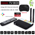 3 GB/32 GB Amlogic CSA93 S912 Cortex-A53 Octa Núcleo Android 6.0 TV BT4.0 caixa 2.4G/5.8G Dupla WiFi H.265 Meida 4 K 1000 M Inteligente jogador