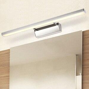 Image 4 - LED ミラーライト 40 50 センチメートル防水現代の美容壁ランプステンレス浴室燭台ランプキャビネット照明デコレーションライト