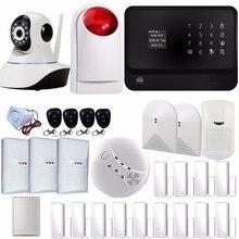 WIFI GSM GPRS Alarm System Wireless Auto Dial Home Security Alarm System with IP Camera Pet Immune PIR Relay Glass Break Sensor