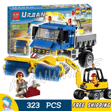 323pcs City Great Vehicles Sweeper & Excavator Model Building Blocks 10651 Assemble Bricks Children Kid Toy Compatible With Lego