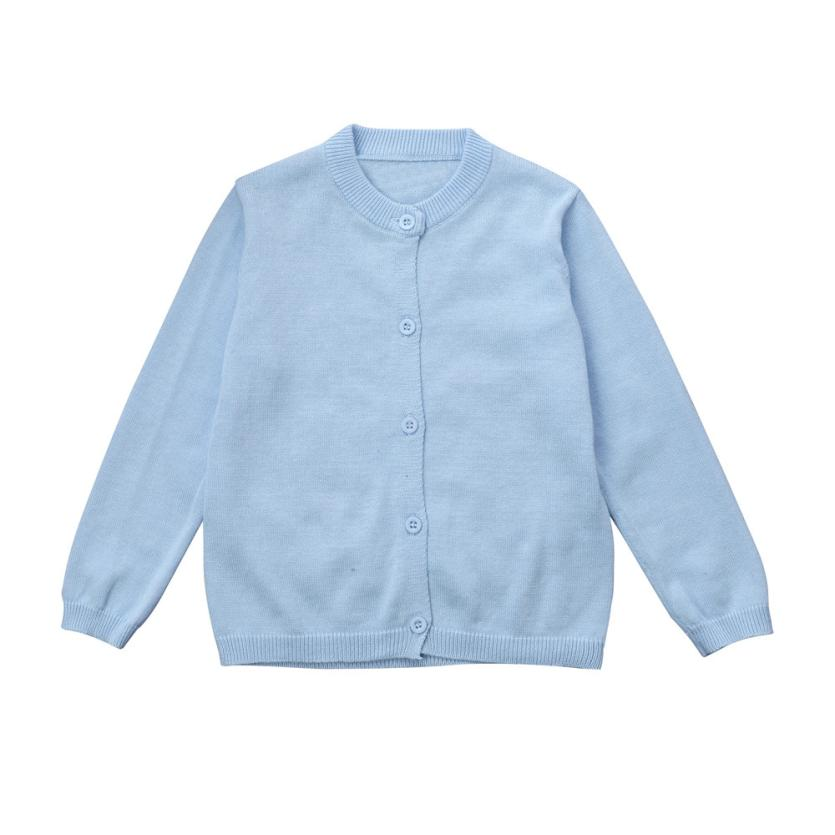 Toddler Kid Boys Girls Clothes Knitted Colorful Solid Sweater Cardigan Coat Tops