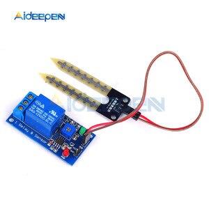 12В модуль реле влажности почвы Электроника датчик влажности почвы реле обнаружения влажности управление автоматическим поливом для Arduino