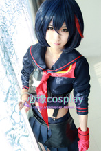 KILL la KILL reactivity japanese Anime Party Cosplay costume Women Girls Dress Custom set+wig Made Free Shipping
