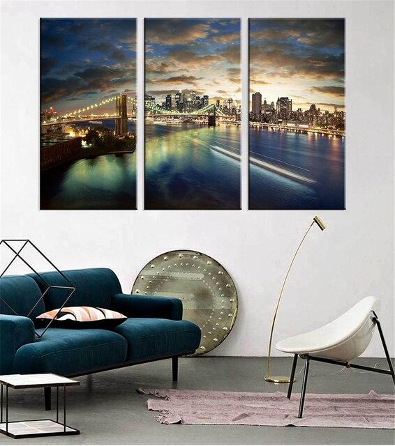 Europe Germany Bridge Print On Canvas Art Landscape Home Decor Wall Art Oil  Painting Poster Artwork