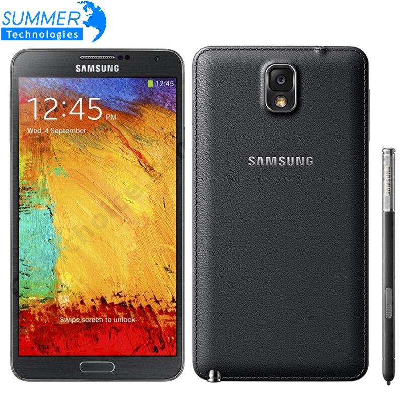 Abierto original samsung galaxy note 3 n900 n9005 del teléfono móvil quad core a