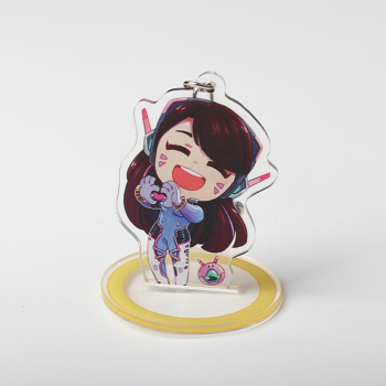10 Types Acrylic D.va Keychains With Stand D.va Handbag Key Chains For Backpack Acrylic Charm Hana Song Dva Cosplay Accessories