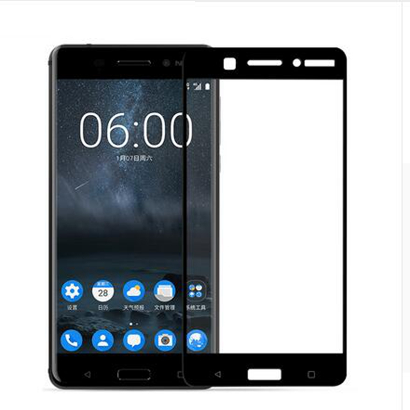 Dreamysow Full Cover Tempered Glass For Nokia 6 5 3 Toughened Protective Glass For Nokia6 3 8 7 5 2 Screen Protector Safety Film