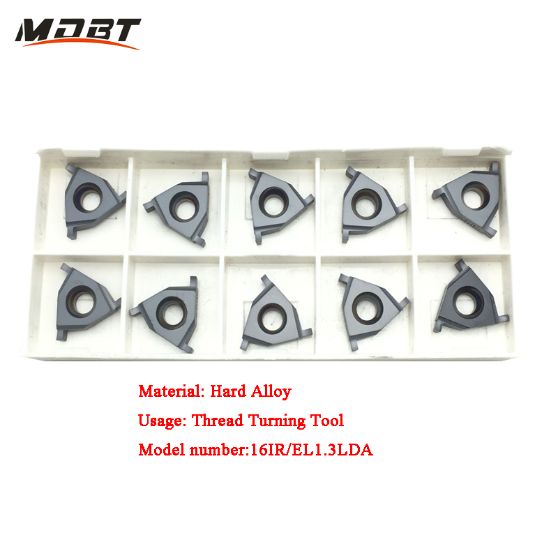 Threading Cutting Tool Carbide CNC Inserts 16IR/EL 1.3 LDA 10PCS/Set Shallow Slot Circlip Groove Carbide Lathe Insert  цены