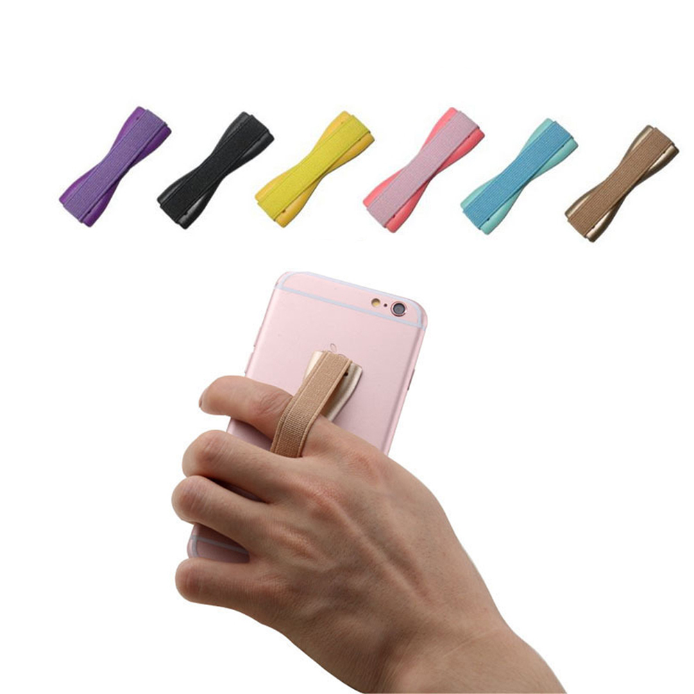SIANCS Colorful  Universal Elastic Band Strap Finger Sling Grip Phone Holder   For IPhonexs  Samsung  Huawei Tablet Pad  Stand