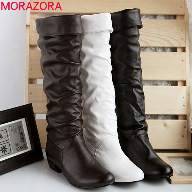 Large size 2016 new arrive Winter Knee high Women Boots Black ...