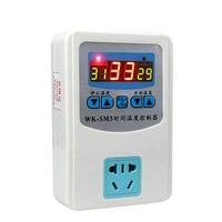 1000/2000 W digitale thermostaat temperatuurregeling Controller met schakelaar socket & Tijd controle functie & 1 M Magnetische probe